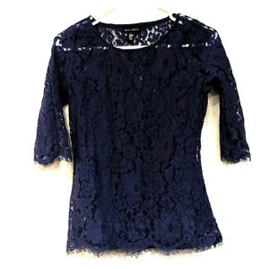 Fine lace blouse and camisole